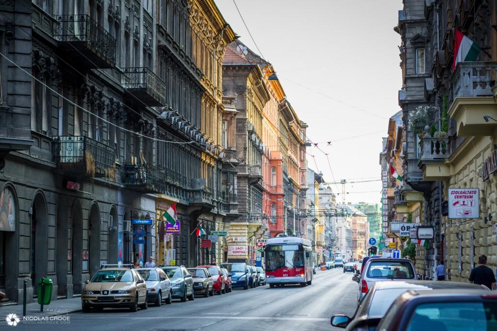 Rue typique de Budapest