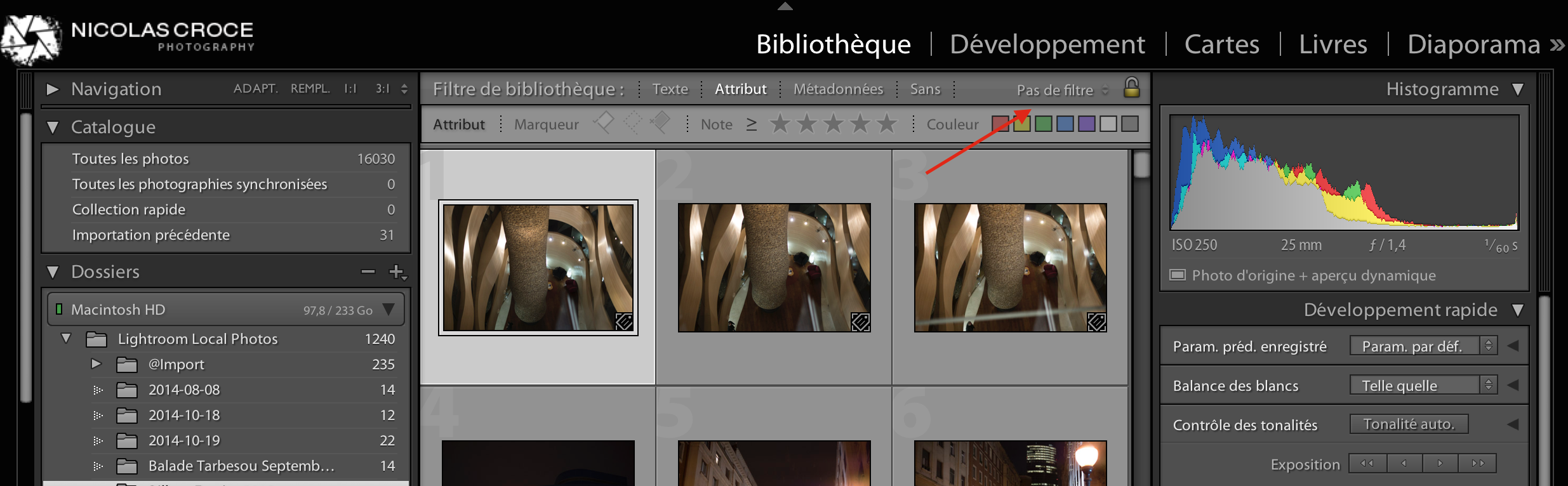 1 filtre lightroom
