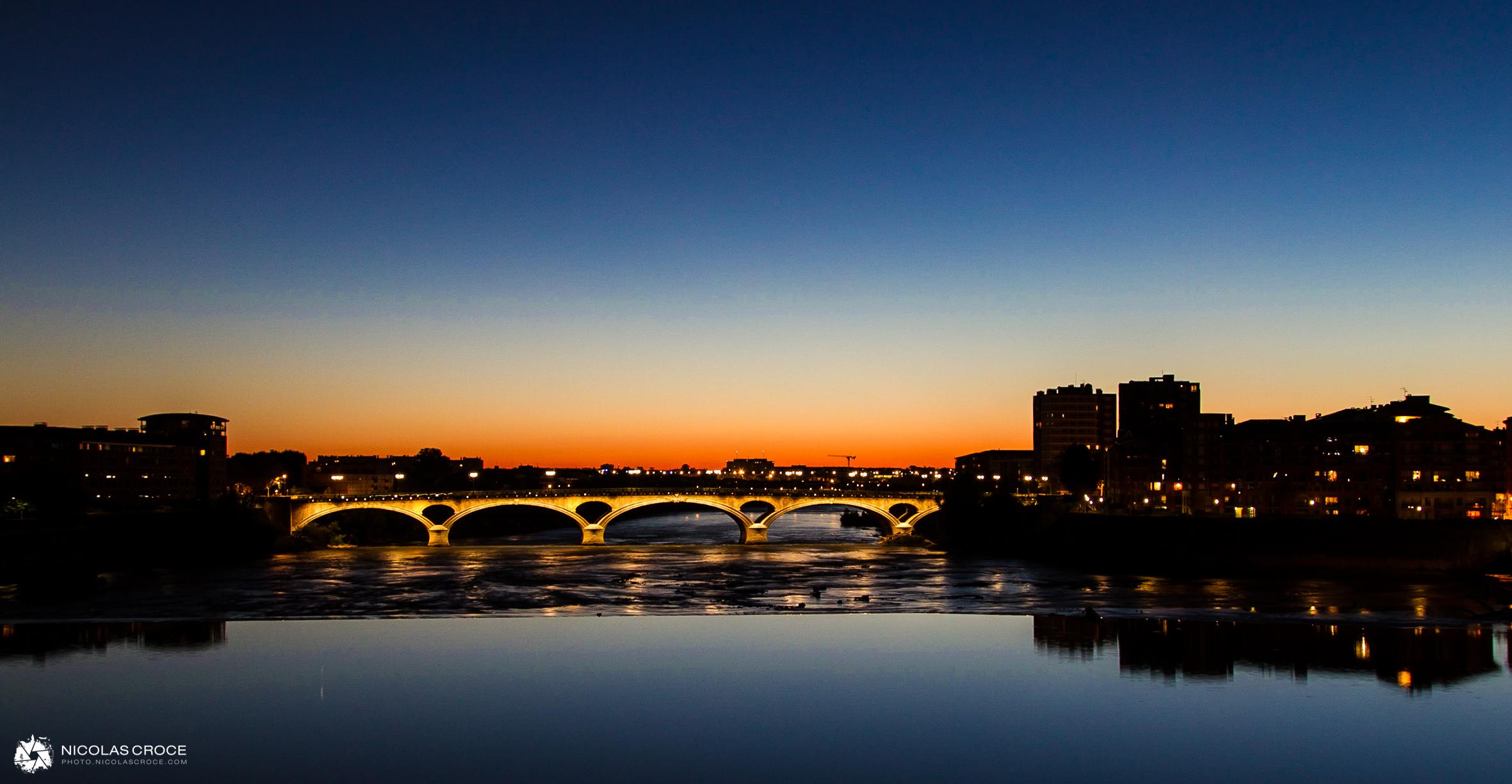 Coucher de soleil sur la Garonne - Toulouse